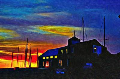 Boat Builder's Dawn Poster by Jeffrey Canha
