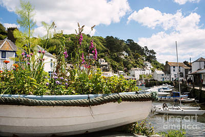 Boat Filled With Flowers Poster by Amanda Elwell