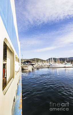 Boat From Kettering To Bruny Island Poster