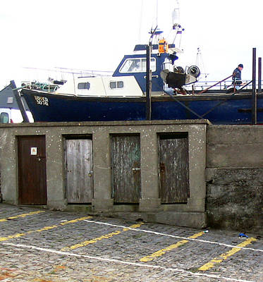 Boat House At Enniscrone Poster by Amy Williams