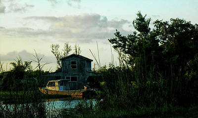 Poster featuring the photograph Boat House by Cynthia Powell