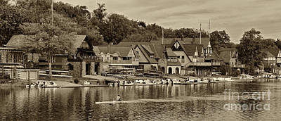 Boat House Row 1 Poster by Jack Paolini