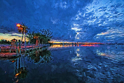 Boat Ramp Blues Poster by HH Photography of Florida