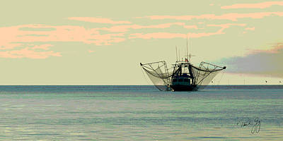 Boat Series 30 Shrimp Boat Gulf Of Mexico Louisiana Poster