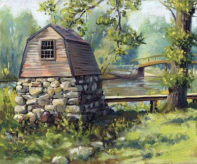 Boathouse And Battle Bridge Poster