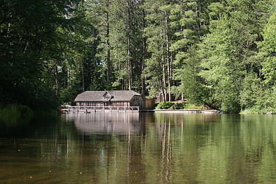 Poster featuring the photograph Boathouse On The Brule by Ron Read