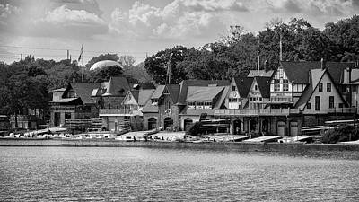 Boathouse Row - Bw Poster