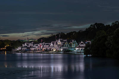 Boathouse Row Philadelphia Pa At Night  Poster
