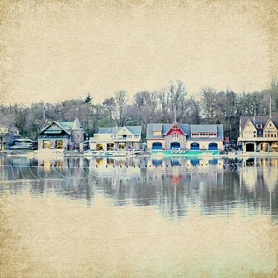 Boathouse Row Philadelphia Pa V2 Poster by Brandi Fitzgerald