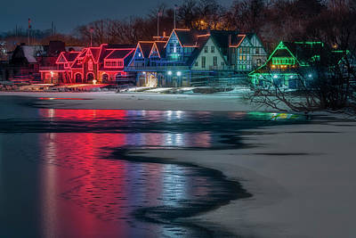Boathouse Row Philly Pa Poster