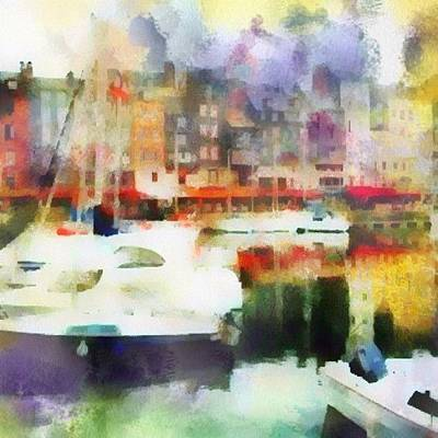 Boating In Honfleur Poster by Susan Libby
