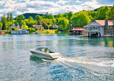Boating Lake George New York Poster