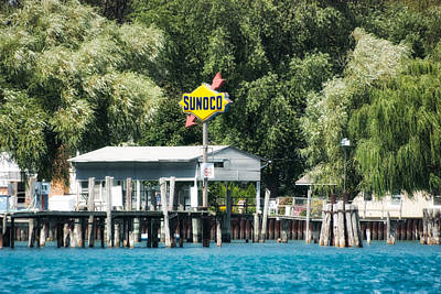 Boating Sunoco Gas Signage Poster by Thomas Woolworth