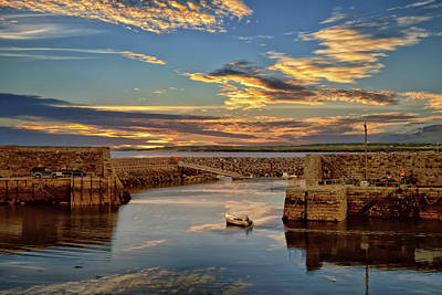 Boatman At Mullaghmore Harbour Poster