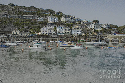 Poster featuring the photograph Boats At Looe by Brian Roscorla