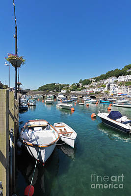 Boats At Looe In Cornwall Poster