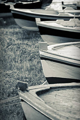 Boats In A Row Poster by Silvia Ganora