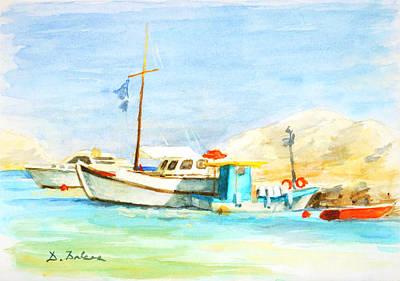 Azure Harbor Poster by Dusan Balara