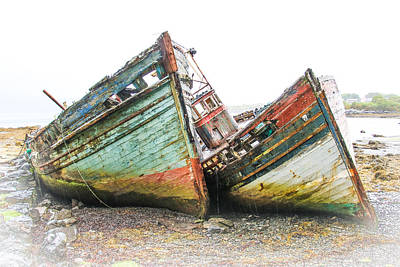 Boats Isle Of Mull 4 Poster