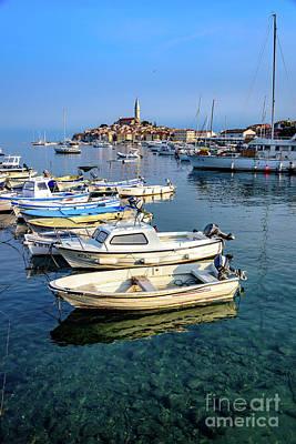 Boats Of The Adriatic, Rovinj, Istria, Croatia  Poster