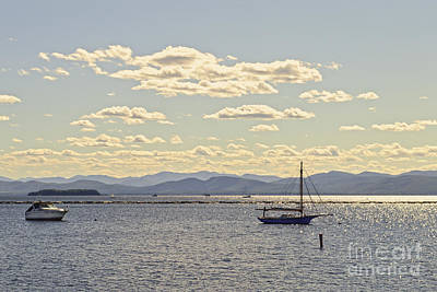 Boats On Lake Champlain Vermont Poster