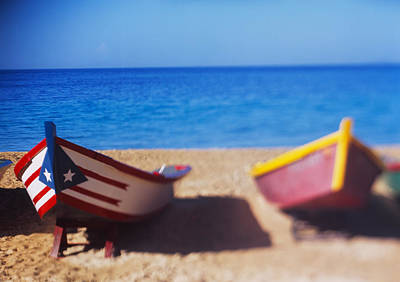 Boats On The Beach, Aguadilla, Puerto Poster