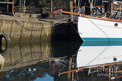 Boatyard Reflections Poster