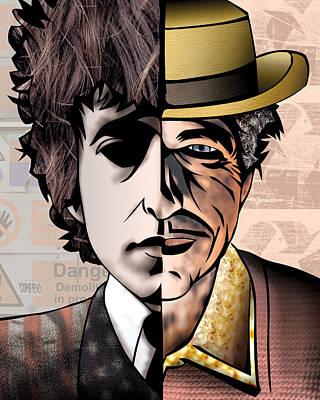 Bob Dylan - Man Vs. Myth Poster by Sam Kirk