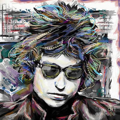 Bob Dylan Art Poster by Ryan Rock Artist