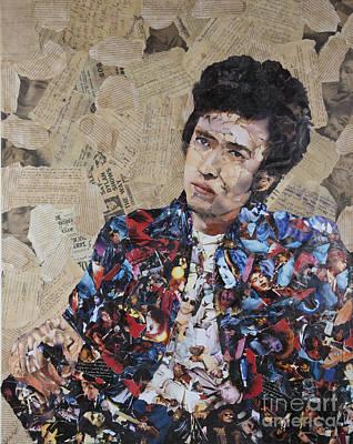 Bob Dylan Collage Poster by John Kerr