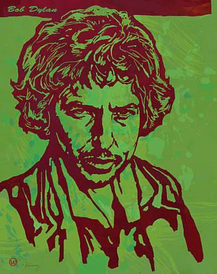 Bob Dylan Pop Art Poser Poster