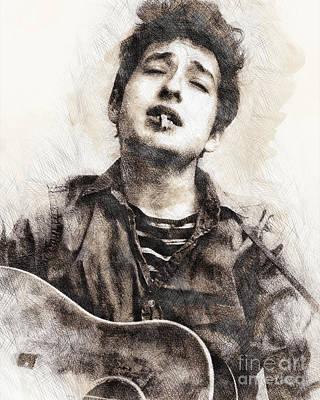 Bob Dylan Portrait 01 Poster by Pablo Romero