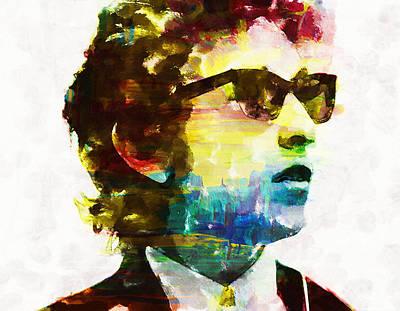 Bob Dylan Rainbow Wayfarers Poster