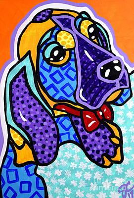 Bob Hound Puppy Poster by Jackie Carpenter