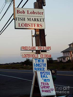 Bob Lobster Fish Market Poster