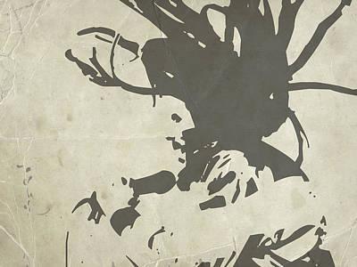 Bob Marley Grey Poster