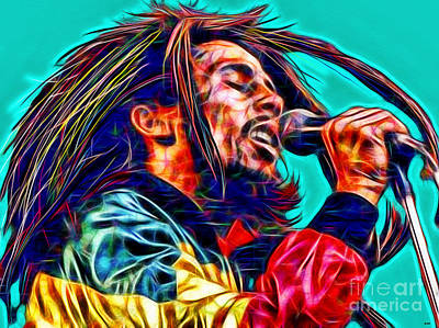 Bob Marley In Color Poster