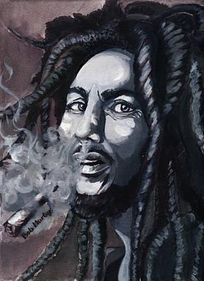 Bob Marley Portrait Poster