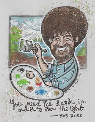 Bob Ross Illustration Poster