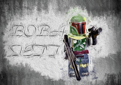 Poster featuring the digital art Boba Fett by JC Findley
