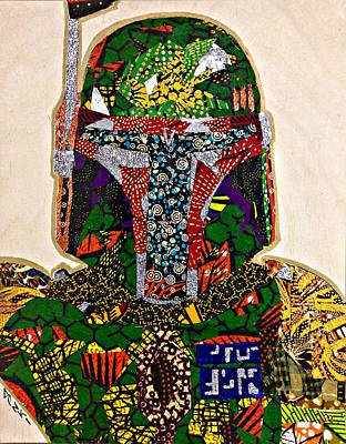 Poster featuring the tapestry - textile Boba Fett Star Wars Afrofuturist Collection by Apanaki Temitayo M