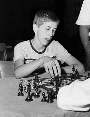 Bobby Fischer, Circa 1957 Poster