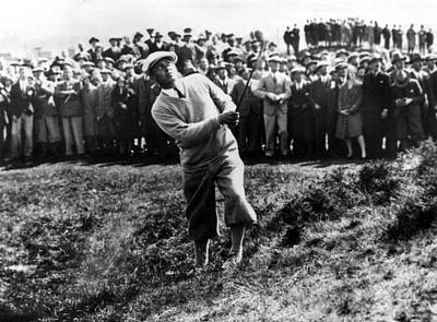 Bobby Jones At The British Amateur Golf Poster