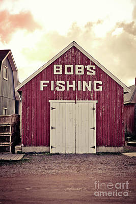 Bob's Fishing North Rustico Poster by Edward Fielding