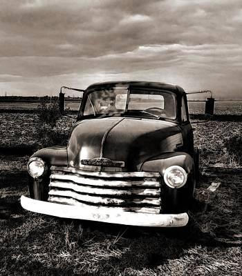 Bob's Truck In B/w Poster by Julie Dant