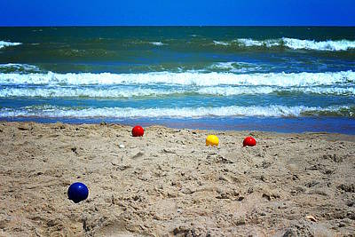 Bocce On The Beach Poster