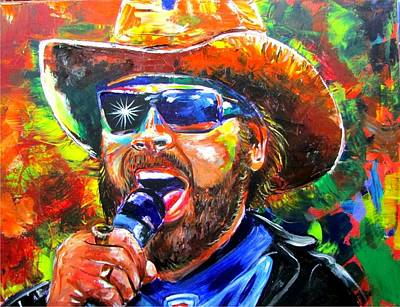 Bocephus Poster by Ken Pridgeon