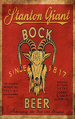Poster featuring the digital art Bock Beer by Greg Sharpe
