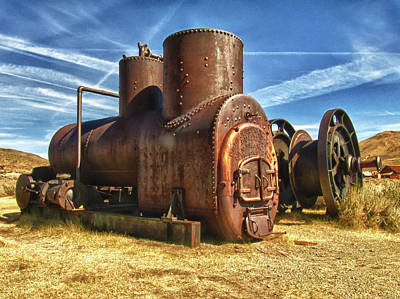 Old Boiler Bodie State Park Poster by James Hammond
