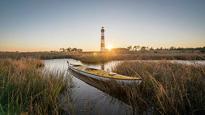 Bodie Island Kayak Poster by Michael Donahue